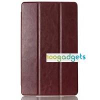 Чехол флип подставка сегментарный серия Glossy Shield для Sony Xperia Z3 Tablet Compact Коричневый