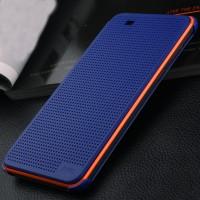 Точечный чехол смарт-флип с функциями оповещения для HTC Desire Eye Синий