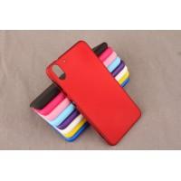 Пластиковый матовый чехол для HTC Desire Eye Красный