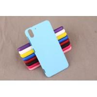 Пластиковый матовый чехол для HTC Desire Eye Голубой