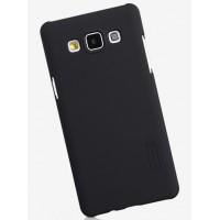 Пластиковый матовый нескользящий премиум чехол для Samsung Galaxy A5 Черный