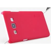 Пластиковый матовый нескользящий премиум чехол для Samsung Galaxy A5 Пурпурный