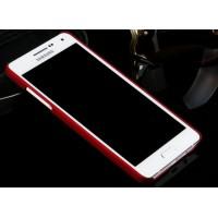 Пластиковый матовый металлик чехол для Samsung Galaxy A5 Красный