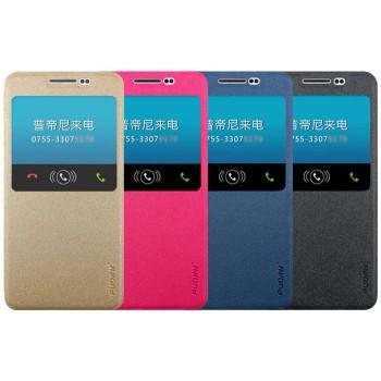 Текстурный чехол флип с окном вызова на присоске для Samsung Galaxy A5