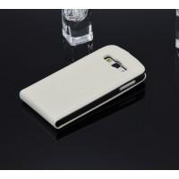 Чехол вертикальная книжка с магнитной заклепкой для Samsung Galaxy A3 Белый