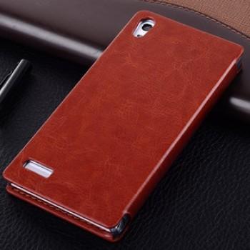 Кожаный чехол-флип серии Business для Huawei Ascend P6