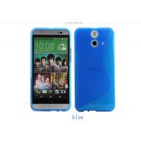 Силиконовый S чехол для HTC One E8 Синий