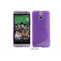 Силиконовый S чехол для HTC One E8 Фиолетовый