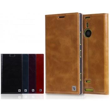 Чехол-флип подставка винтажная вощеная кожа для Nokia Lumia 1520