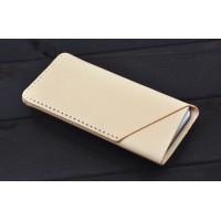 Кожаный дизайнерский z-образный мешок для Samsung Galaxy Note Edge Бежевый