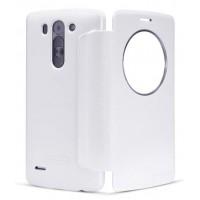 Чехол смарт флип с окном вызова серия Colors для LG L Bello Белый