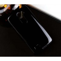 Силиконовый глянцевый чехол для LG L Bello Черный