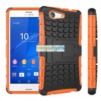Силиконовый чехол экстрим защита для Sony Xperia Z3 Compact Оранжевый