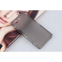Силиконовый матовый полупрозрачный чехол для Sony Xperia Z3 Compact Черный