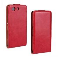 Чехол вертикальная книжка с магнитной застежкой для Sony Xperia Z3 Compact Красный
