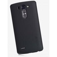 Пластиковый матовый нескользящий премиум чехол для LG L Fino Черный
