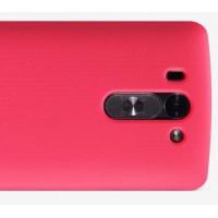 Пластиковый матовый нескользящий премиум чехол для LG L Fino Пурпурный