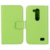 Чехол портмоне подставка с защелкой для LG L Fino Зеленый