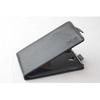 Чехол вертикальная книжка с магнитной застежкой для Lenovo A859 Черный