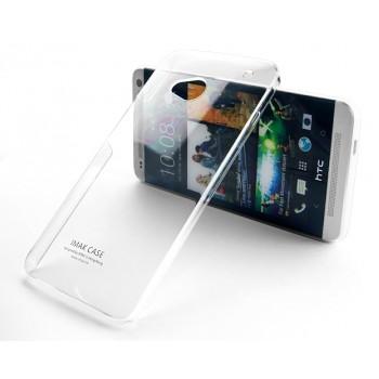 Пластиковый транспарентный чехол для HTC One (М7) Dual SIM