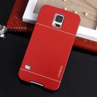 Двухкомпонентный чехол с поликарбонатным софт-тач основанием и металлической накладкой для Samsung Galaxy S5 Красный