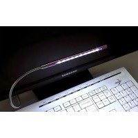 Осветительная USB 2.0 LED-лампа ширина 15 см на гибком алюминиевом стебле 30 см для Samsung Galaxy Note 4 (duos, lte, N910H, SM-N910H, N910f, SM-N910f, SM-N910C, n910c)