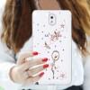 Пластиковый чехол с металлическим напылением и стразами для Samsung Galaxy Note 3