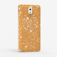 Пластиковый матовый дизайнерский чехол с принтом серия сердечки для Samsung Galaxy Note 3