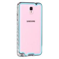 Металлический бампер со стразами для Samsung Galaxy Note 3