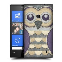 Пластиковый матовый дизайнерский чехол с принтом Owls для Nokia Lumia 520