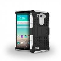 Силиконовый чехол экстрим защита для LG G3 (Dual-LTE) Белый