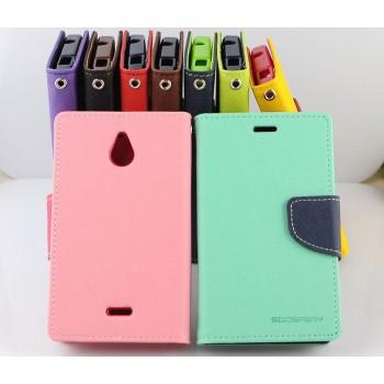 Чехол портмоне подставка на силиконовой основе с защелкой для Nokia X2