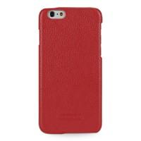 Кожаный чехол накладка (нат. кожа) для Iphone 6 Красный