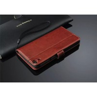 Чехол портмоне подставка для HTC Desire 820 Коричневый