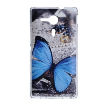 Пластиковый матовый дизайнерский чехол с принтом для Sony Xperia SP