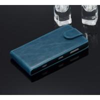 Чехол вертикальная книжка с магнитной застежкой для Nokia Lumia 830 Синий