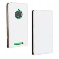 Чехол вертикальная книжка на пластиковой основе для Nokia Lumia 830 Белый