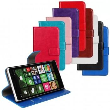 Глянцевый чехол портмоне подставка с защелкой для Nokia Lumia 830
