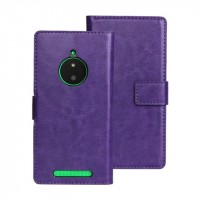 Глянцевый чехол портмоне подставка с защелкой для Nokia Lumia 830 Фиолетовый