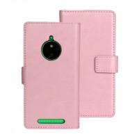 Глянцевый чехол портмоне подставка с защелкой для Nokia Lumia 830 Розовый