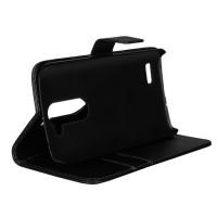 Чехол портмоне подставка с защелкой для LG L Bello Черный