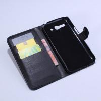 Чехол портмоне подставка с защелкой для Alcatel One Touch Pop C9 Черный