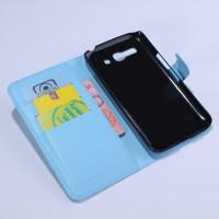Чехол портмоне подставка с защелкой для Alcatel One Touch Pop C9 Голубой