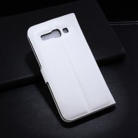 Чехол портмоне подставка с защелкой для Alcatel One Touch Pop C9 Белый