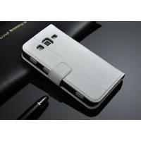 Чехол подставка с защелкой для Samsung Galaxy Core Advance Белый