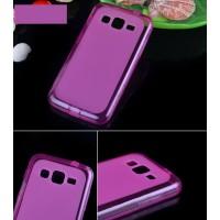 Силиконовый матовый полупрозрачный чехол для Samsung Galaxy Core Advance Пурпурный