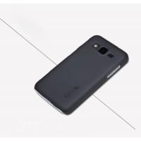 Пластиковый матовый нескользящий премиум чехол для Samsung Galaxy Core Advance Черный