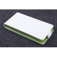 Чехол вертикальная книжка на пластиковой основе с магнитной застежкой для Lenovo S660 Белый