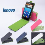 Чехол вертикальная книжка на пластиковой основе с магнитной застежкой для Lenovo S660