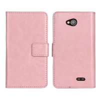 Чехол портмоне подставка с защелкой для LG L70 Розовый